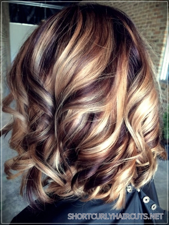Caramel Highlights Hairstyles for Women over 40