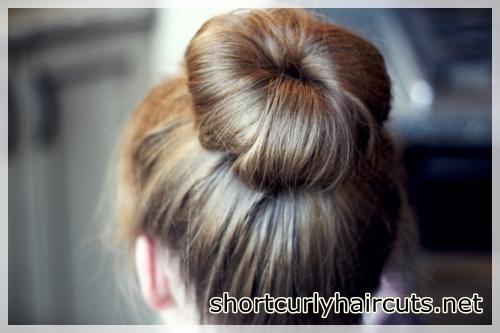 Dispersed bun model for fine hair