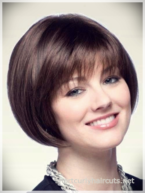 Rounded Bob hairstyle