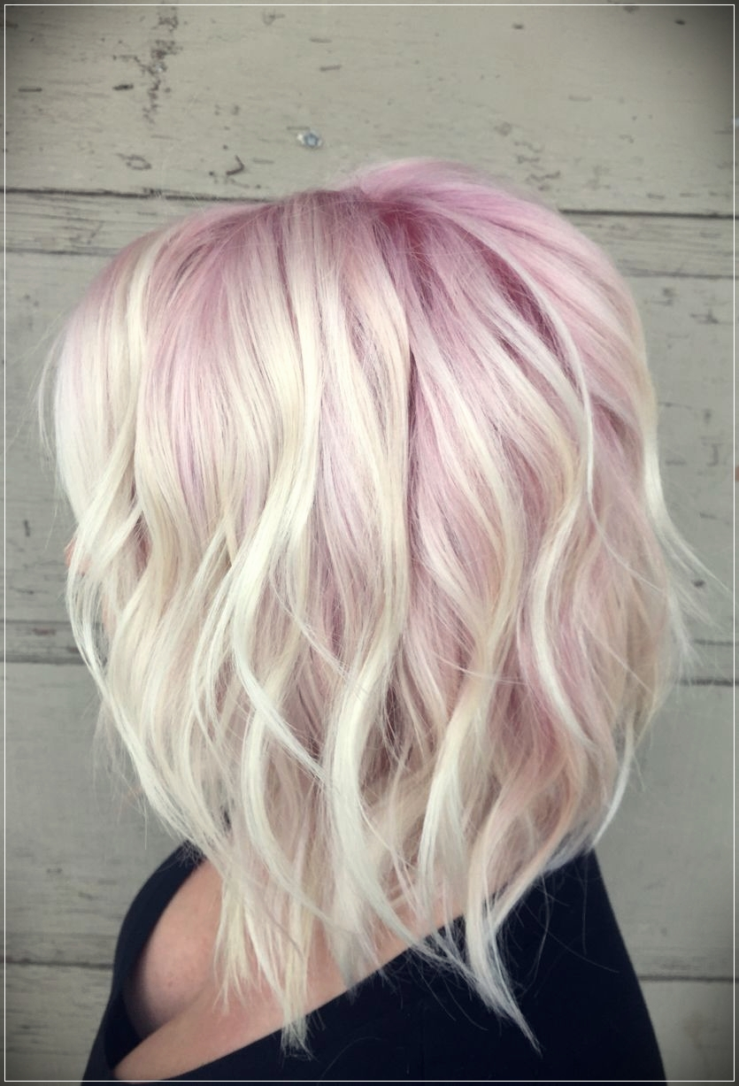 Blonde and pink ombre