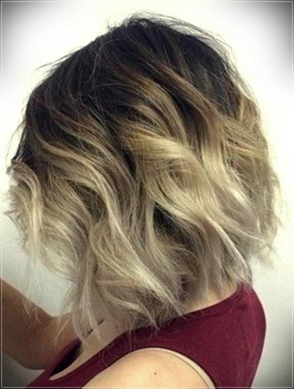 Short wavy ombre hair