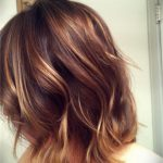 Creamy brown and warm blonde ombre