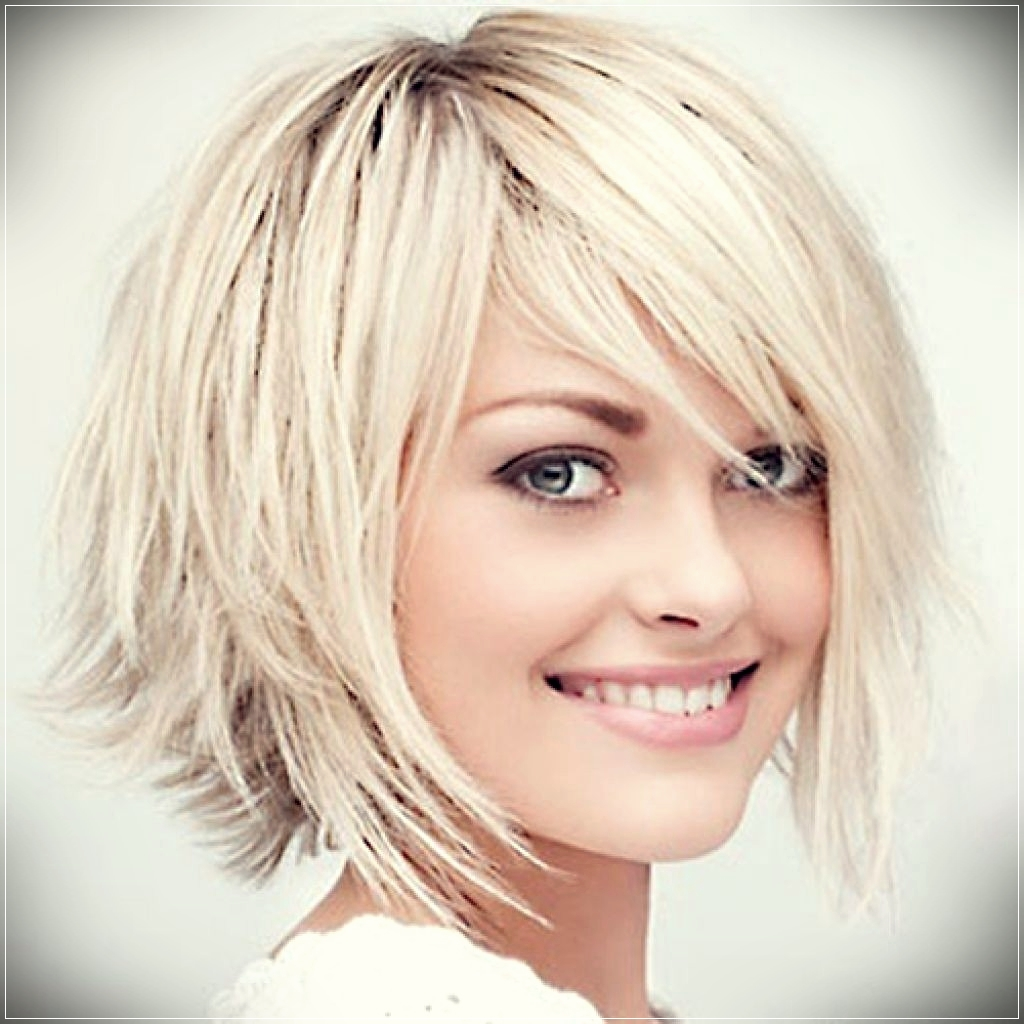 Vibrant layered and short hairstyle