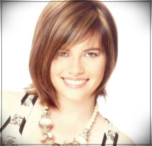 10. Chic Asymmetric Medium Haircut with highlights