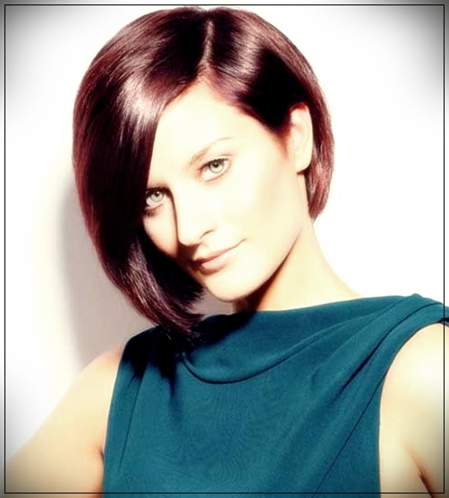 12. Asymmetric bob hairstyle and long bangs