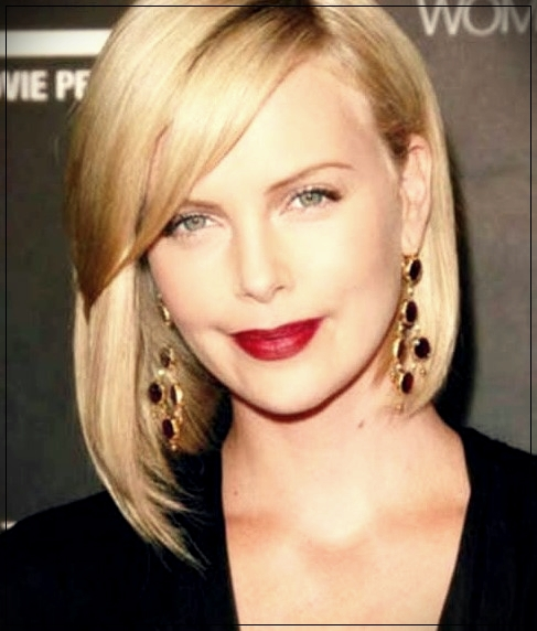 14. Charlize Theron's cutest bob hair