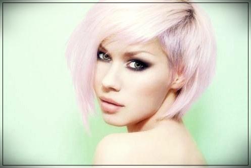 8. Nice short pastel bob hair
