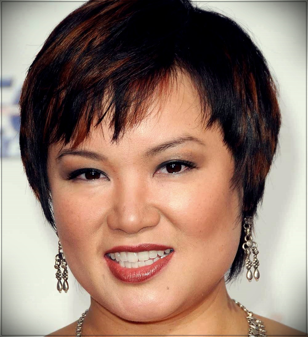 Pixie cut cut round face Angelin Chang