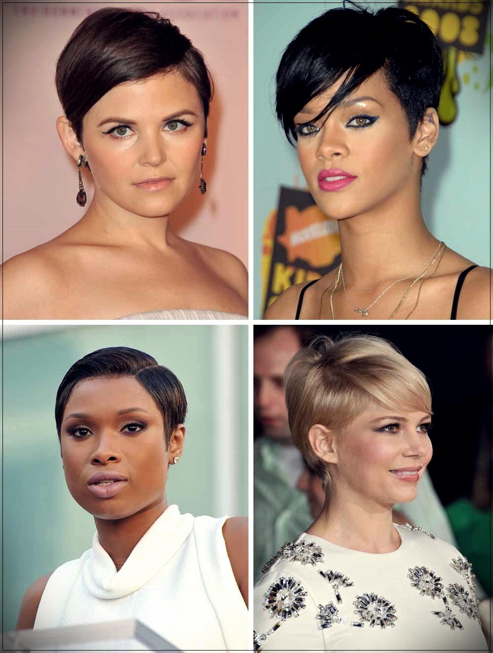 Pixie cut Ginnifer Goodwin, Rihanna, Jennifer Hudson, Michelle Williams