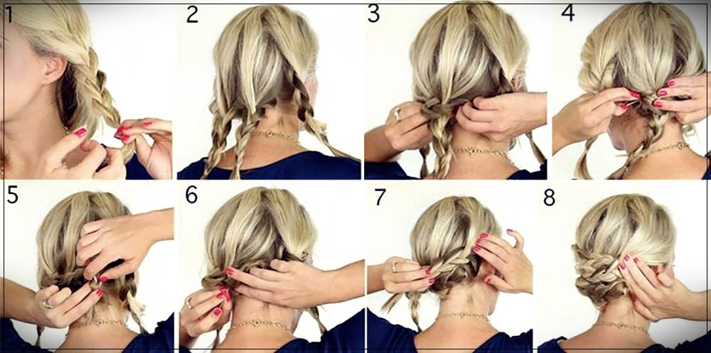 Hairstyle medium hair tutorial