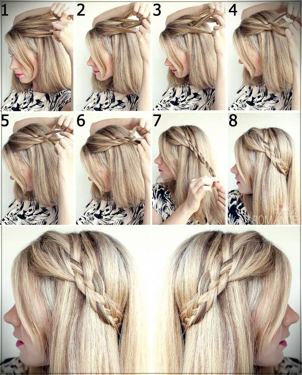 Braid 4 side strands on medium hair