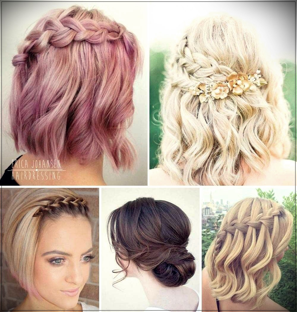 Short hairstyles for ceremonies
