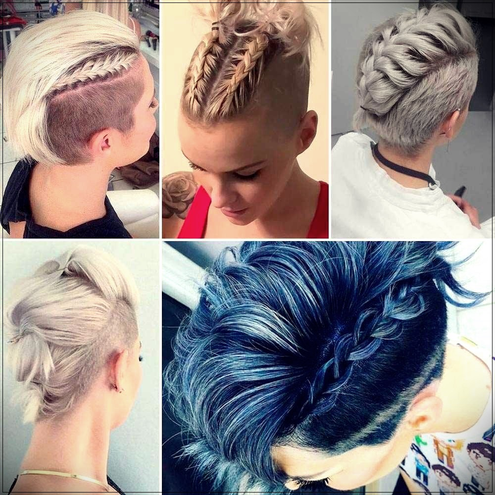 Short hairstyles on the head