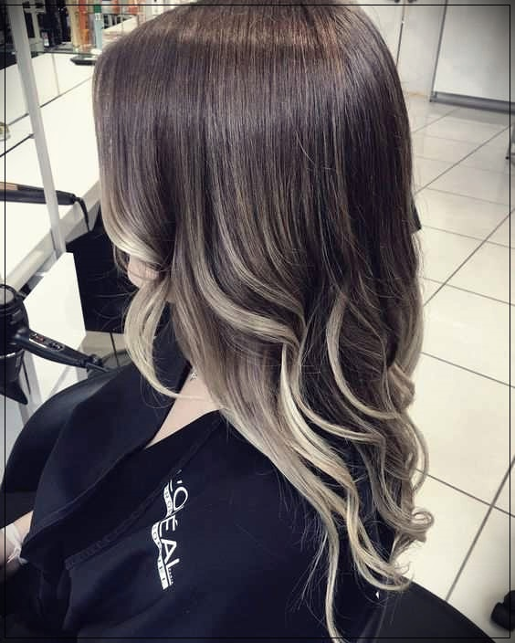 Ombre coloring with dark brown hair