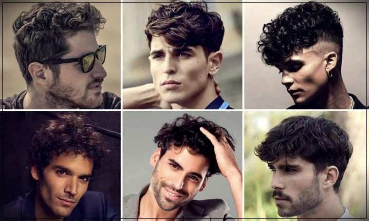 Curly man's haircut