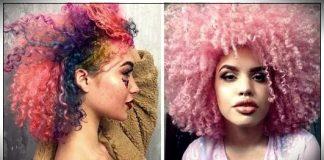 Dye curly hair