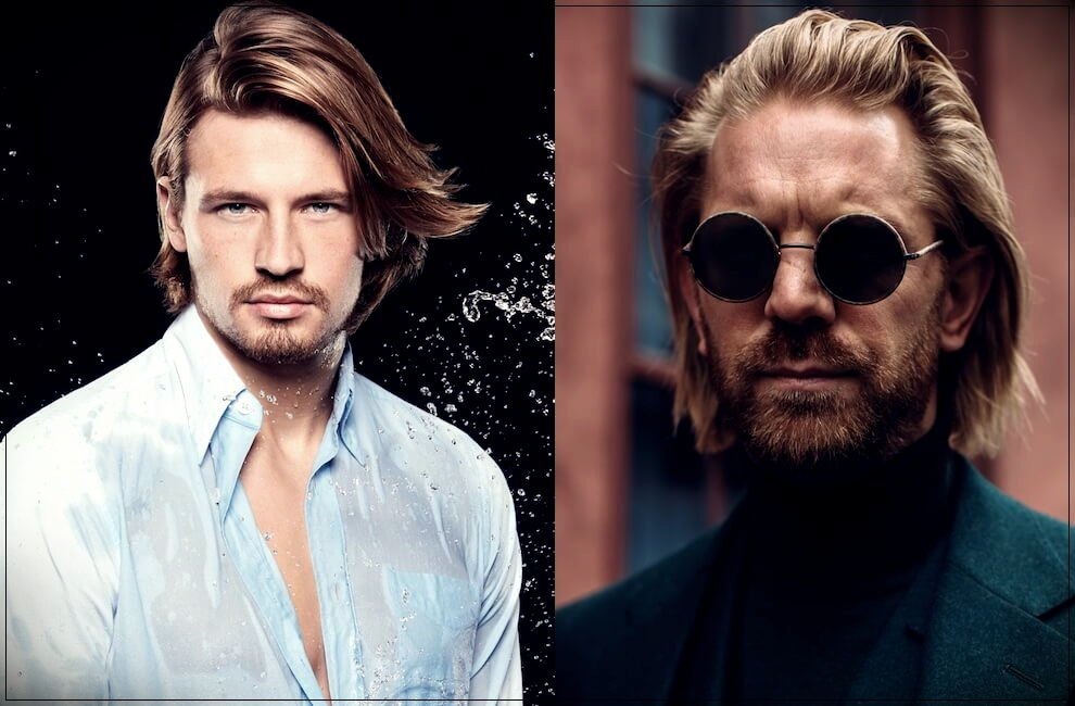 Superb Mens Long Hair 2019 Wavy Smooth And Unkempt In Photos Natural Hairstyles Runnerswayorg