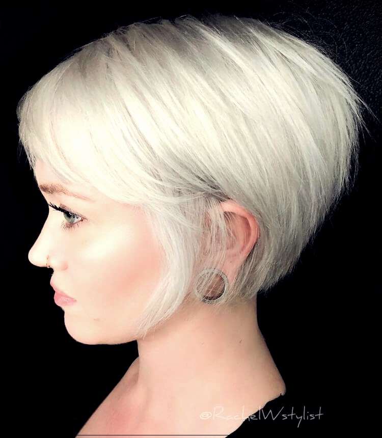 25 White Hair Cuts Dyes And Charming Hairstyles
