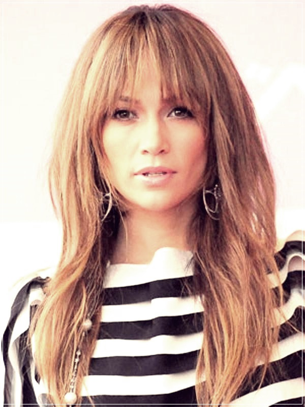 Long Length Haircuts For Women With Bangs 32