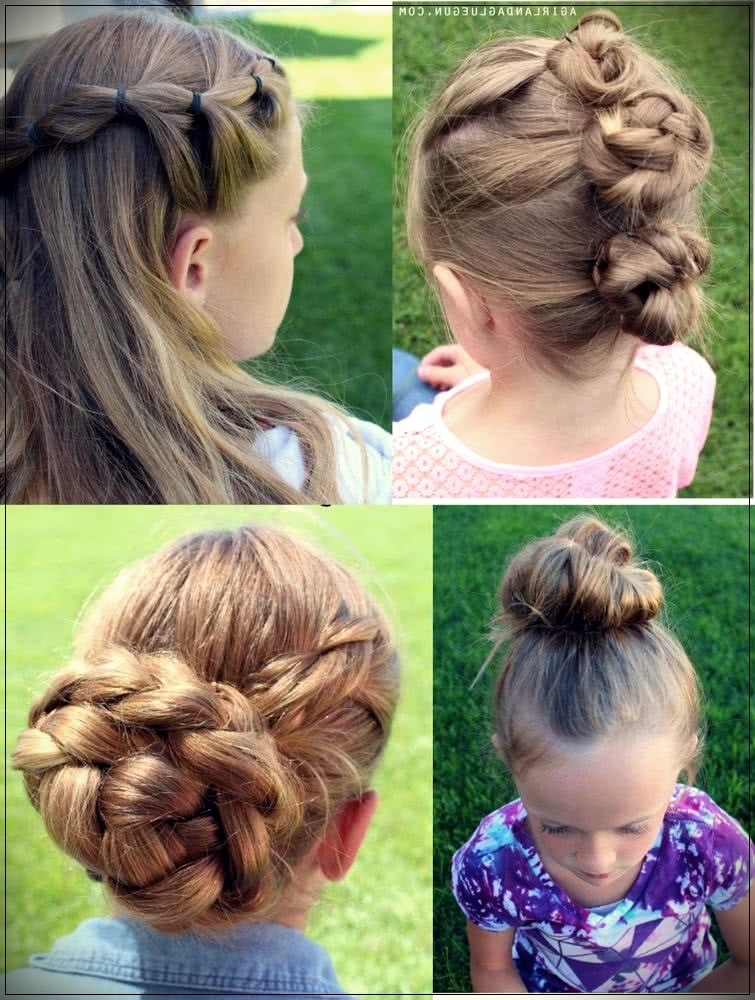 Collected and semi-collected for girls hairstyles