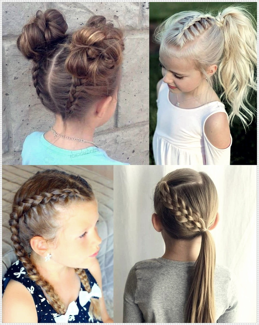 Hairstyles with braids for girls