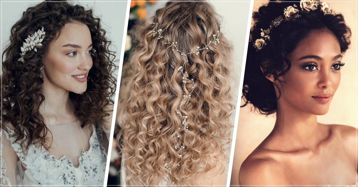 hairstyles for brides with curly hair