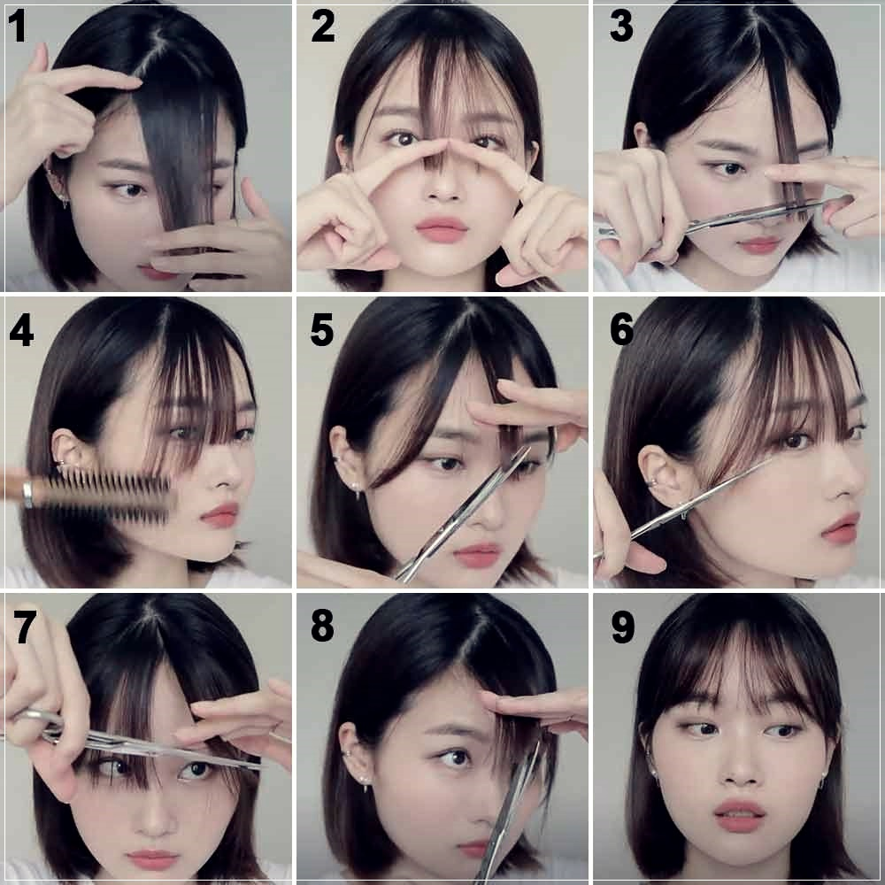 How To Cut The Bangs Yourself 8 Easy Ways
