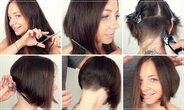 How to cut hair at home alone: 10 easy tutorials