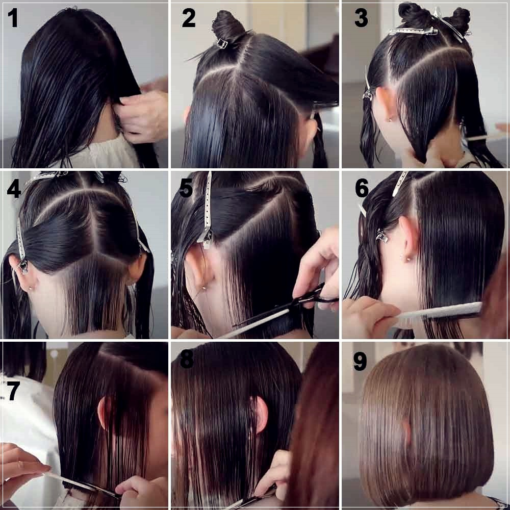How to cut hair at home alone: 12 easy tutorials