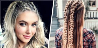 13 braids with loose hair that you can do in less than 10 minutes
